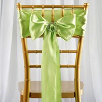 "Efavormart 25pcs SATIN Chair Sashes Tie Bows for Wedding Events Banquet Decor Chair Bow Sash Party Decoration Supplies  6 x106"""
