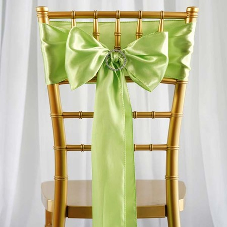 Efavormart 25pcs SATIN Chair Sashes Tie Bows for Wedding Events Banquet Decor Chair Bow Sash Party Decoration Supplies  6 x106