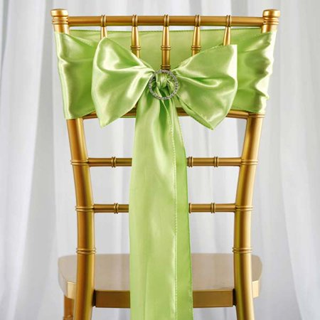 Efavormart 25pcs SATIN Chair Sashes Tie Bows for Wedding Events Banquet Decor Chair Bow Sash Party Decoration Supplies  6 x106""