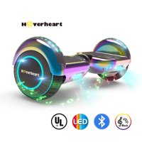 "UL2272 Certified TOP LED 6.5"" Hoverboard Two Wheel Self Balancing Scooter Chrome Rainbow"