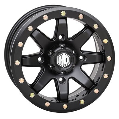 4/156 STI HD9 Complock Wheel 14x7 5.0 + 2.0 Matte Black for Polaris RANGER 800 EFI Mid Size