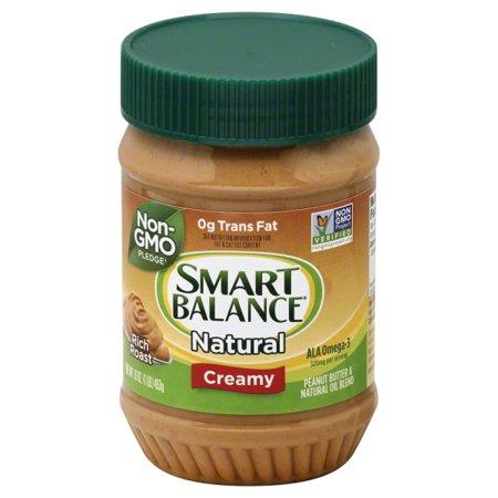 Peanut Butter Spread ((2 Pack) Smart Balance® Creamy Natural Rich Roast Peanut Butter 16 oz. Jar)