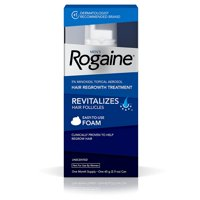 Men's Hair Loss & Hair Regrowth Treatment Minoxidil Foam, One Month Supply, One 2.11-ounce aerosol of hair regrowth foam, a 1-month supply By Rogaine