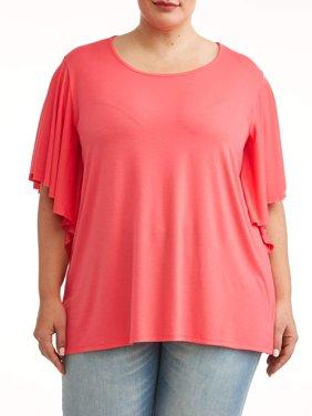 Women's Plus Size Ruffle Top