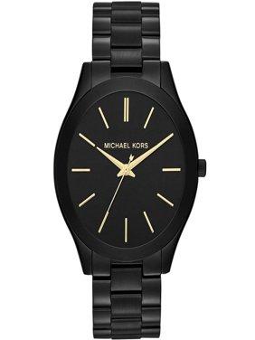 Women's Classic Black-Tone Stainless Steel Bracelet Watch