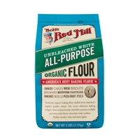 Bob's Red Mill Organic Unbleached White Flour, 5 Lb