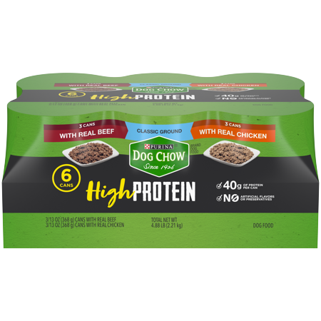 Purina Dog Chow High Protein Pate Wet Dog Food, With Chicken & Beef Variety Pack - (6) 13 oz. - Reindeer Chow