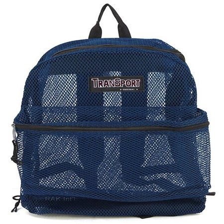 Ncaa Mesh Bag (Travel Sport Transparent See Through Mesh Backpack/ School Bag )
