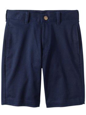 Boys Husky School Uniform Super Soft Flat Front Shorts
