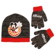 ae8ccb8f05f Little Boys Mickey Mouse Beanie Hat and Gloves Cold Weather Set