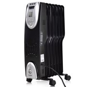 Costway 1500W Electric Oil Filled Radiator Heater Safe Digital Temperature Adjust Timer