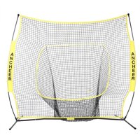 Ancheer 7 x 7ft Batting Training Net Batting Net Baseball Softball Practice Net with Bow Frame Bag