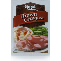 (6 Pack) Great Value Brown Gravy Mix, 0.87 oz