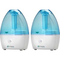 PureGuardian H910BL 14-Hour Nursery Ultrasonic Cool Mist Humidifier, 2 pack