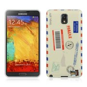 Insten Airmail TPU IMD Rubber Skin Gel Back Shell Case For Samsung Galaxy Note 3 -