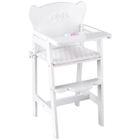 KidKraft Tiffany Lil Bow Doll High Chair Doll Cradle High Chair