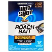 Hot Shot MaxAttrax Roach Bait, 12-Count, 0.84-Ounce