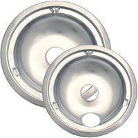 Range Kleen 2-Piece Drip Bowl, Style C fits Plug-In Electric Ranges GE/Hotpoint since 1995 with Step Downs, Chrome
