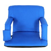 ZENY Stadium Seats Chairs for Bleachers or Benches - 5 Reclining Positions (Blue)