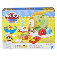 Play-Doh Kitchen Creations Noodle Makin' Mania Food Set with 5 Cans of Dough