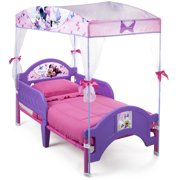 Disney Minnie Mouse Plastic Toddler Bed with Canopy by Delta Children