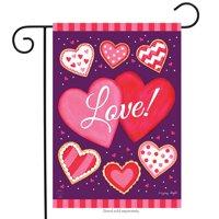 """Sweet Valentine Garden Flag Valentine's Day Hearts 12.5"""" x 18"""" Briarwood Lane"""