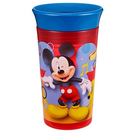 Disney Mickey Mouse Simply Spoutless Sippy Cup, 9 Oz](Mickey Mouse Plate Set)