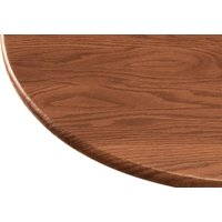 Wood Grain Vinyl Elastic Table Cover with Fleece Backing in 3 Sizes, Reusable