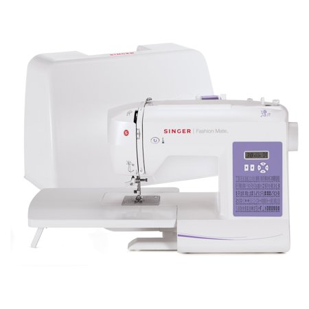 - Singer 5560 Fashion Mate Sewing Machine with Dust Cover, Foot Pedal & Extension Table, 4 Piece