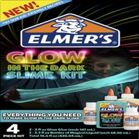 Elmer's Glow-in-the-Dark Slime Kit, Glow-in-the-Dark Glue, Assorted Colors, with Glue Slime Activator, 4 Count
