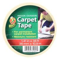 Duck Brand 1.41 In. x 12 Yd Indoor/Outdoor Carpet Tape, White