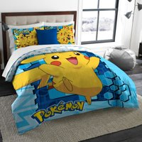 Pokemon Big Pika Twin/Full Bedding Comforter Set - Comes with Comforter and 2 Shams