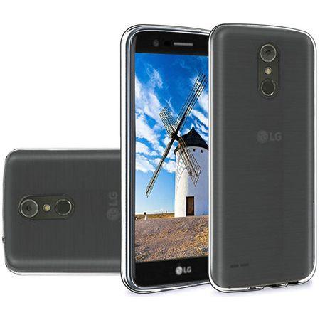 Slim TPU Silicone Soft Crystal Skin Protective Cover Case and Atom Cloth LG Stylo 4+ Plus/LG Stylo 4 (2018) - Smoke Gray