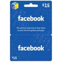 Facebook $15 eGift Card (Email Delivery)
