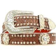 cb56ae37e8d85 Blazin Roxx Western Belt Womens Tooled Beads Conchos Brown N3518002