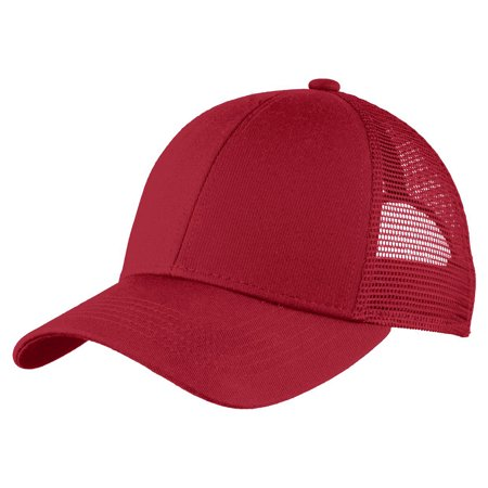 Port Authority Twill Cap - Port Authority Men's Adjustable Mesh Back Cap