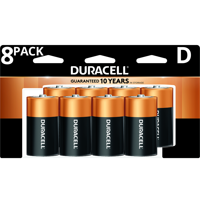 Duracell 1.5V Coppertop Alkaline D Batteries, 8 Pack