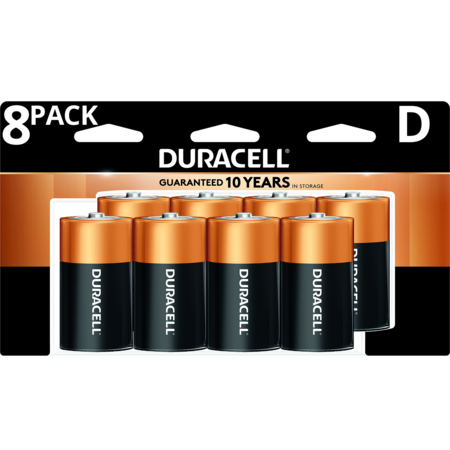 Duracell 1.5V Coppertop Alkaline D Batteries 8 Pack Duracell Nickel Camera Battery