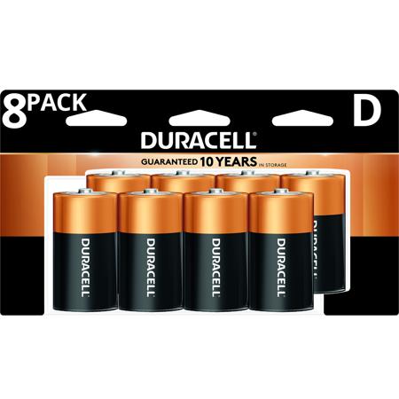 Duracell 1.5V Coppertop Alkaline D Batteries 8 Pack