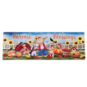 Fall Harvest Skid-Resistant Scarecrow Accent Mat, Darling Indoor Decoration, Soft Top, 4 Feet Long