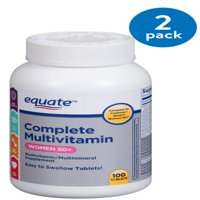 (2 Pack) Equate Women 50+ Complete Multivitamin/Multimineral Supplement, 100 Ct