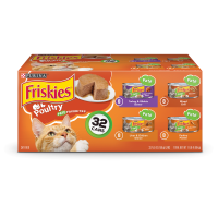 Friskies Pate Wet Cat Food Variety Pack; Poultry Favorites - (32) 5.5 oz. Cans