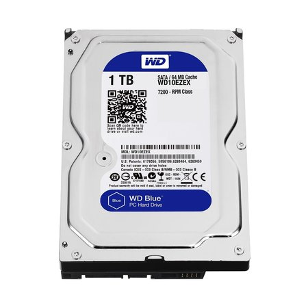 WD Blue 1TB Desktop Hard Disk Drive - 7200 RPM SATA 6 Gb/s 64MB Cache 3.5 Inch - (Best Internal Hard Drive For Gaming)