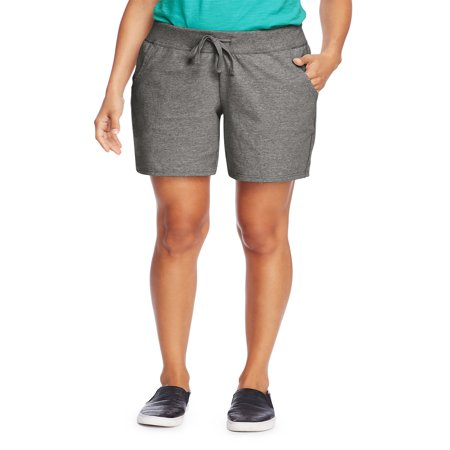 Women's 7 inseam Jersey Knit Pocket Shorts with Drawstring Waist - Wholesale Womens Shorts