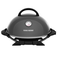 George Foreman 15+ Serving Indoor / Outdoor Electric Grill with Ceramic Plates, Gun Metal, GFO3320GM