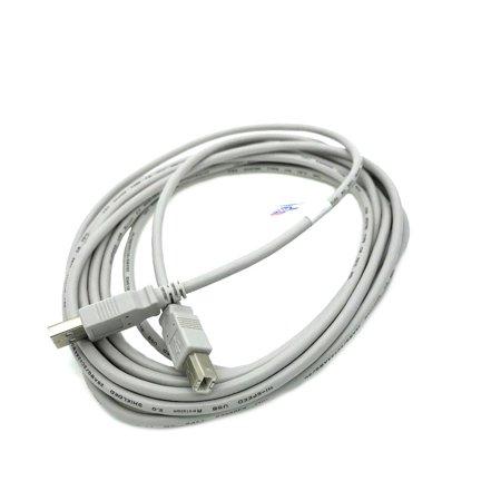 Kentek 15 Feet FT USB Cable Cord For YAMAHA PSR-E443 PSR-E453 PSR-S710 PSR-S770 PSR-S950 PSR-S970 Beige