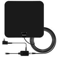 [NEWEST 2019] Amplified HD Digital TV Antenna with Long 60 Miles Range – Support 4K 1080p & All Older TV's for Indoor with Powerful HDTV Amplifier Signal Booster - 12ft Coax Cabl