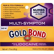 Gold Bond Medicated Pain and Itch Relief Cream with Lidocaine 1.75oz