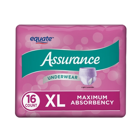Assurance Incontinence Underwear for Women, Maximum, XL, 16 Ct