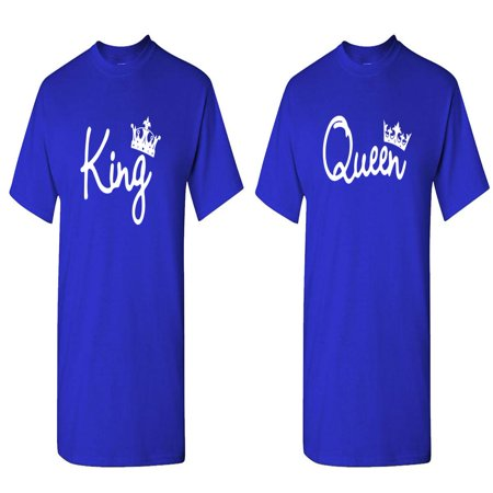 KING and QUEEN - Couples TWO T-Shirt Combo Pack - Couples Tshirts